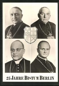 AK Die Bischöfe von Berlin: Christian Schreiber, Nicolaus Bares & Wilhelm Weskamm