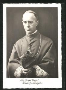 AK Portrait Dr. Joseph Wendel, Bischof von Speyer