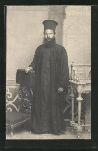 AK Portrait eines griechisch-orthodoxen Geistlichen