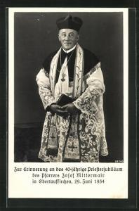 AK Obertaufkirchen, 40-jähriges Priesterjubiläum des Pfarrers Josef Mittermair 1934