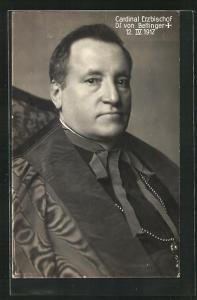 AK Portrait Cardinal Erzbischof Dr. von Bettinger