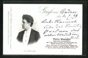 AK Italienischer Opernkomponist Pietro Mascagni
