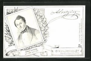AK Portrait des Komponisten Albert Lortzing