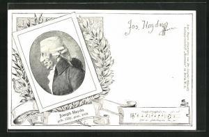 AK Portrait des Komponisten Joseph Haydn