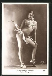 AK Schauspielerin und Tänzerin Josephine Baker im Bananenröckchen