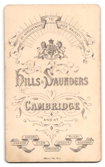 Fotografie Hills & Saunders, Cambridge, junger Mann mit streng zurückgegelten Haaren 1
