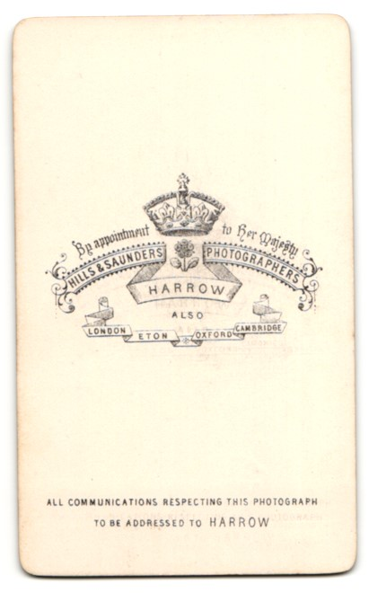 Fotografie Hills & Saunders, Harrow, Mann im Anzug mit Krawatte, Portrait 1