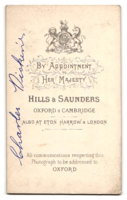 Fotografie Hills & Saunders, Oxford, Portrait bürgerlicher Herr im Anzug mit Krawatte 1