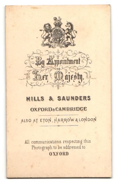 Fotografie Hills & Saunders, Oxford, Portrait niedliches Geschwisterpaar 1
