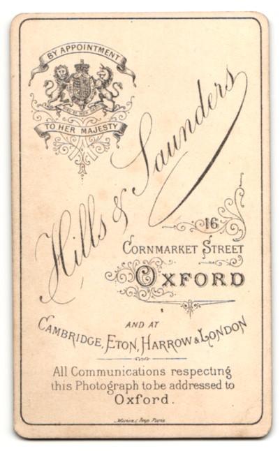 Fotografie Hills & Saunders, Oxford, Portrait Dame und Herr in bürgerlicher Kleidung 1