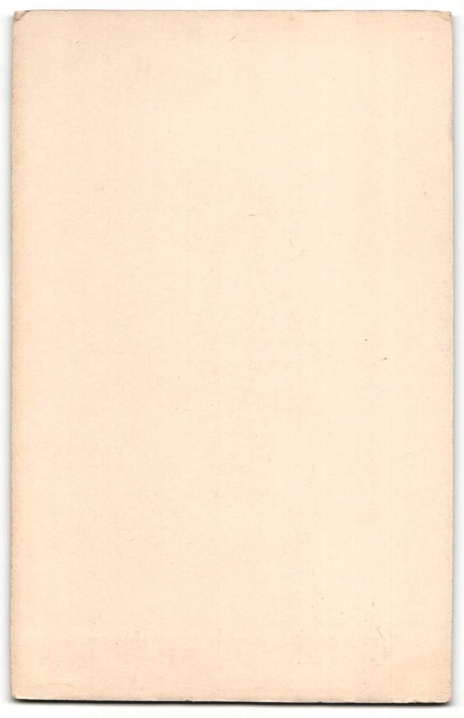 Fotografie D. Schuchhardt, Giessen, Portrait junge Dame in hübscher Kleidung an Tisch gelehnt 1