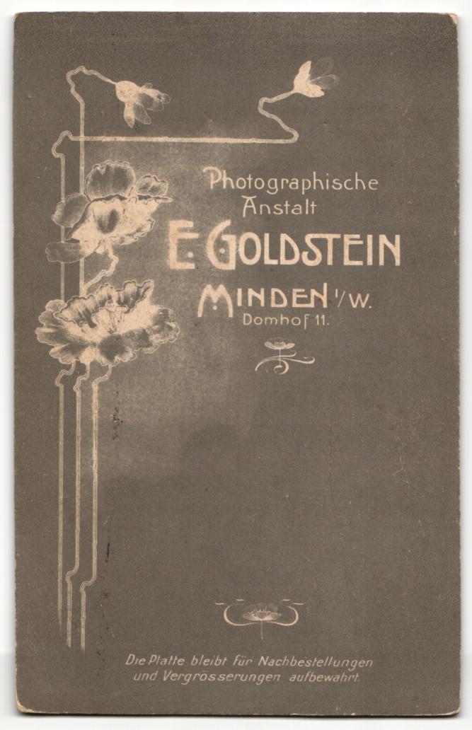 Fotografie E. Goldstein, Minden i/W, Portrait junge bürgerliche Dame 1