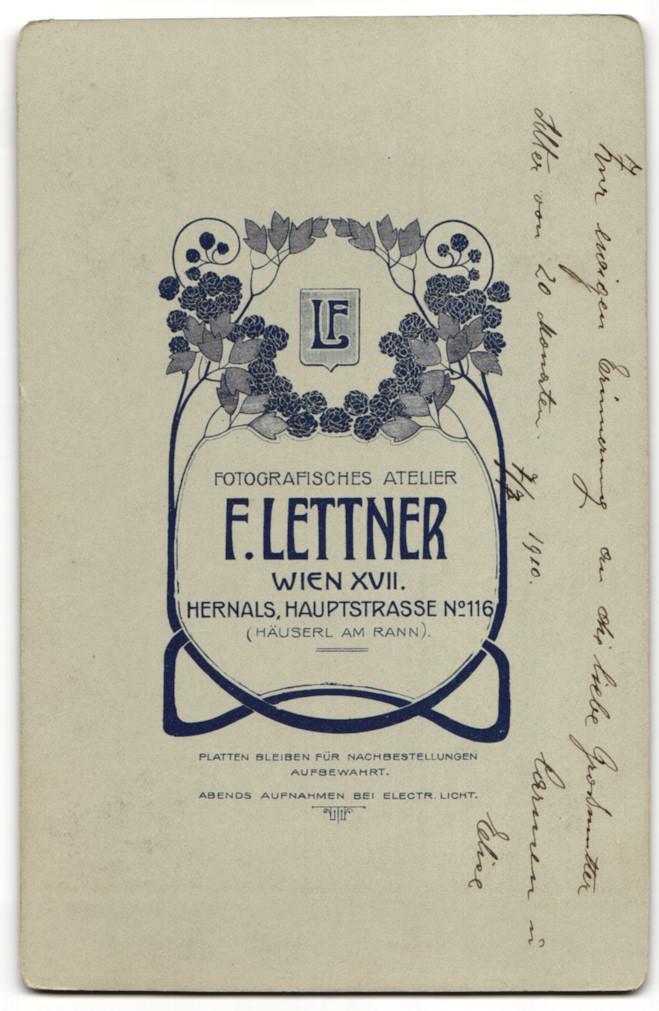 Fotografie F. Leitner, Wien, Portrait Kleinkind un Dame mit Hochsteckfrisur 1