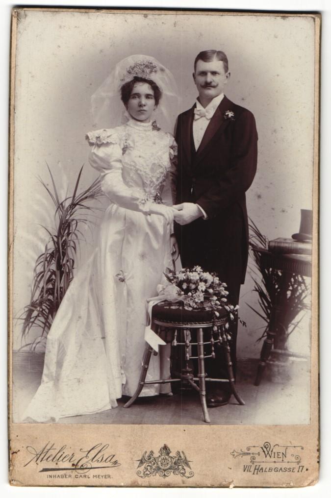 Fotografie Atelier Elsa, Wien, Portrait Braut und Bräutigam, Hochzeit 0