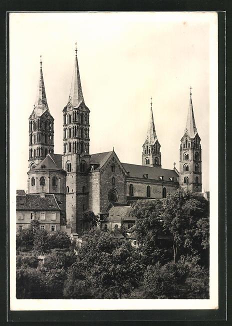 Foto-AK Deutscher Kunstverlag, Nr. 51, Walter Hege: Bamberg, Dom von Südwesten gesehen 0