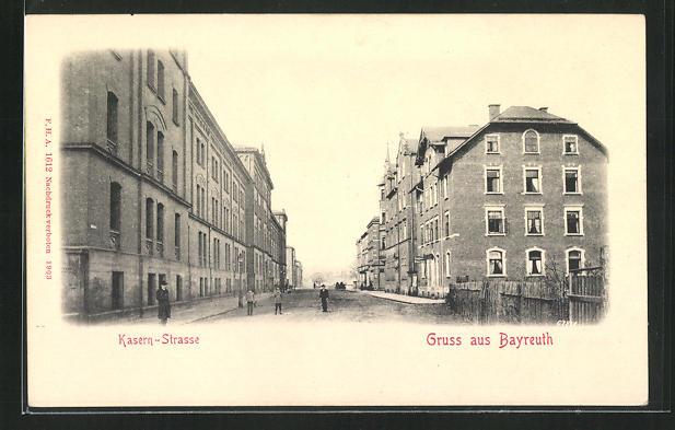 AK Bayreuth, Blick in die Kasern-Strasse 0