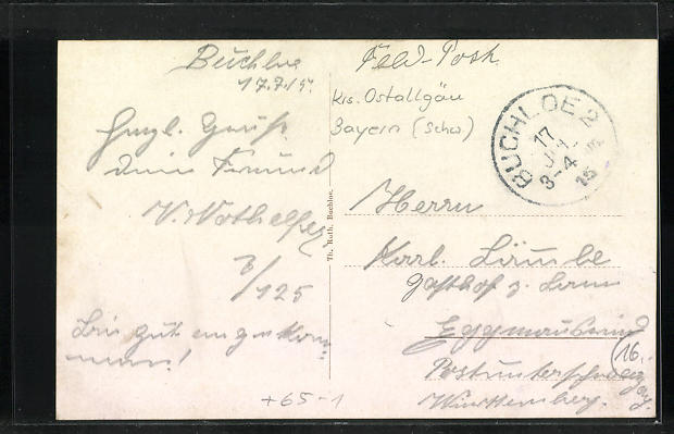 AK Buchloe, Totale, Rathaus, Bahnhof 1
