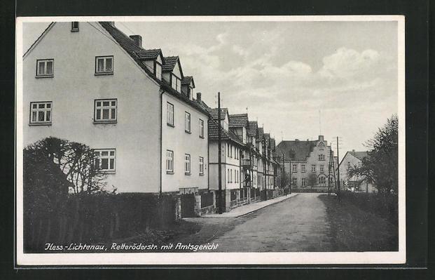 AK Hessisch-Lichtenau, Retteröderstr. mit Amtsgericht 0