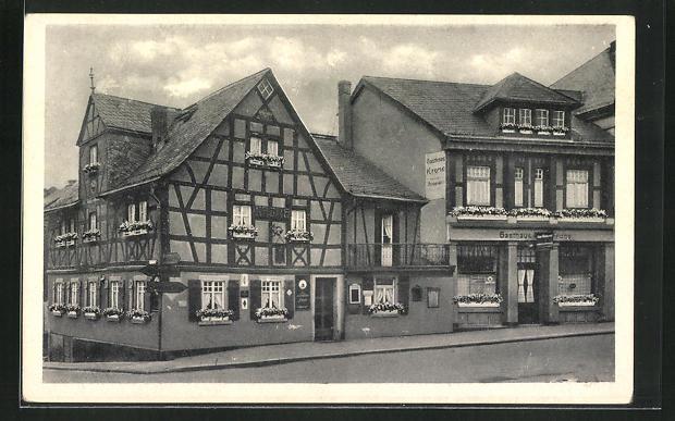AK Bad Ems, Gasthaus Alte Krone, Koblenzerstr. 71 /73 0