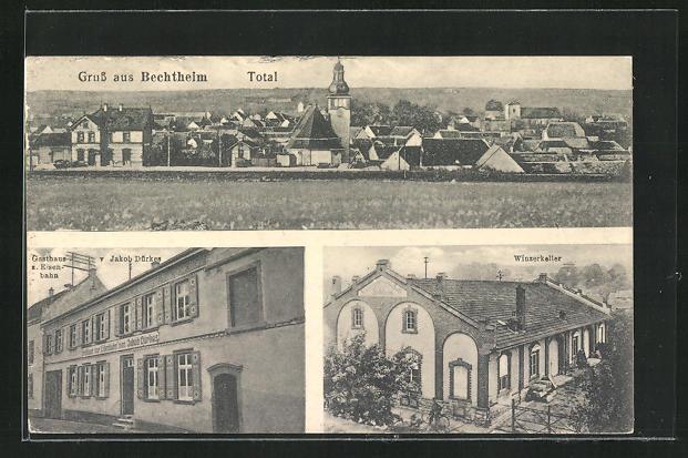 AK Bechtheim, Gasthaus zur Eisenbahn, Winzerkeller 0