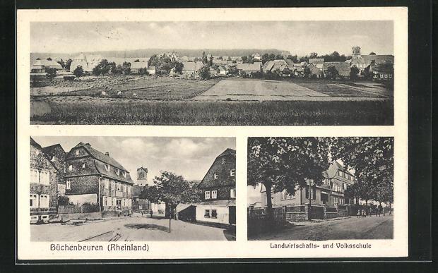 AK Büchenbeuren / Rheinland, Landwirtschafts- und Volksschule 0