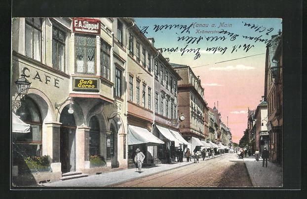 AK Hanau a. Main, Cafe Corso in der Krämerstrasse 0