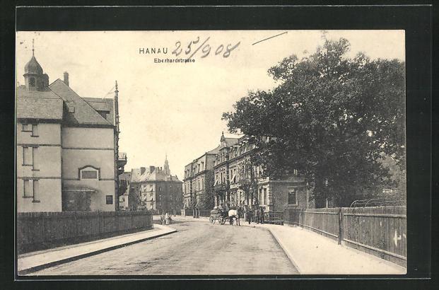 AK Hanau a. Main, Blick in die Eberhardstrasse 0