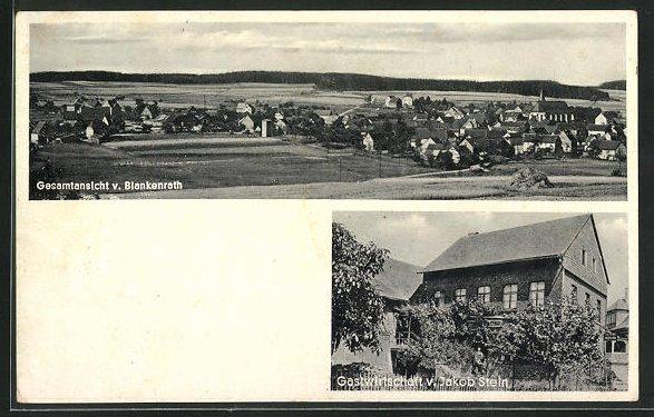 AK Blankenrath, Gasthaus von Jakob Stein, Ortsansicht 0