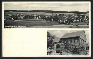 AK Blankenrath, Gasthaus von Jakob Stein, Ortsansicht