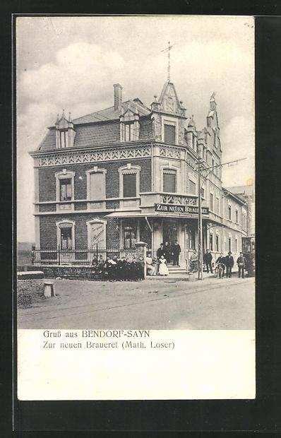 AK Bendorf-Sayn, Gasthaus zur neuen Brauerei 0