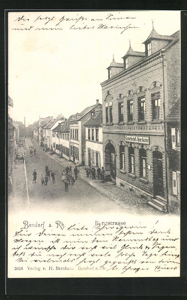 AK Bendorf a. Rh., Gasthaus von Heinrich Geisler an der Bergstrasse 0