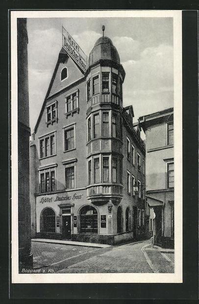 AK Boppard a. Rh., Hotel Deutsches Haus, Oberstrasse 28 0