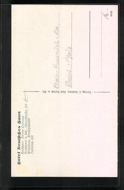 AK Boppard a. Rh., Hotel Deutsches Haus, Oberstrasse 28 1