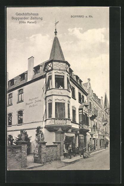 AK Boppard a. Rh., Geschäftshaus der Bopparder Zeitung 0