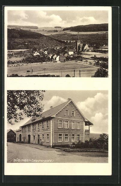 AK Büdingen / Westerwald, Gasthaus und Metzgerei Karl Geissler 0