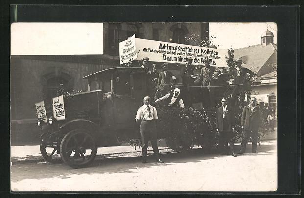 Foto-AK Lastkraftwagen mit Werbung für die Fakulta Rechtsschutz und Haftpflicht-Versicherung 0