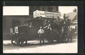Foto-AK Lastkraftwagen mit Werbung für die Fakulta Rechtsschutz und Haftpflicht-Versicherung