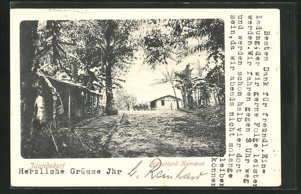 AK Jaundedorf, Strassenpartie im Dorf 0