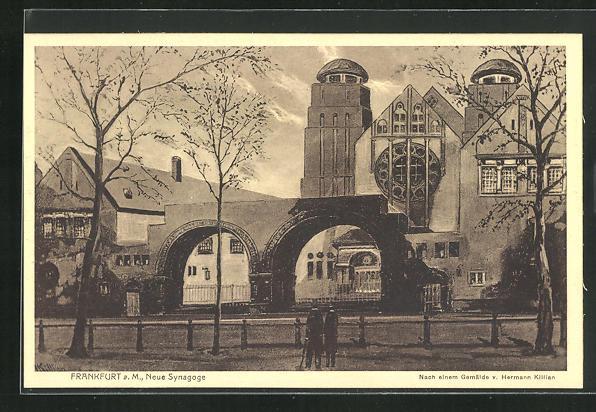 AK Frankfurt, Ansicht der neuen Synagoge 0