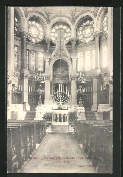 AK Paris, Synagoge in der Rue de la Victoire, Innenansicht 0