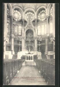 AK Paris, Synagoge in der Rue de la Victoire, Innenansicht