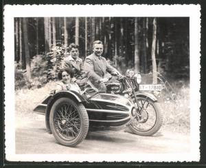 Fotografie Motorrad Triumph TWN, Krad mit Seitenwagen, Kennzeichen: IT-17810