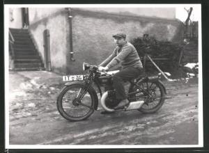 Fotografie Motorrad DKW, Krad mit Kennzeichen IT-36