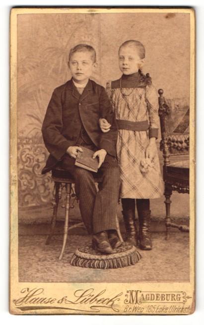 Fotografie Haase & Lübeck, Magdeburg, Portrait bezauberndes Kinderpaar in niedlicher Kleidung 0