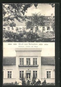 AK Schaaken, Gasthaus von Eduard Meyer