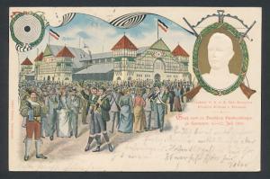 Präge-AK Hannover, 14. Deutsches Bundesschiessen 1903, Protektor Kronprinz Wilhelm von Preussen