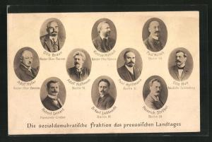 AK Sozialdemokratische Fraktion des preussischen Landtages, Dr. Karl Liebknecht, Otto Hue