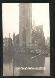 Foto-AK Duisburg, Hochwasser 1924