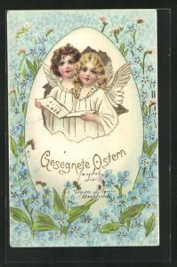 AK Osterengel stimmen ein Lied an, Gesegnete Ostern!