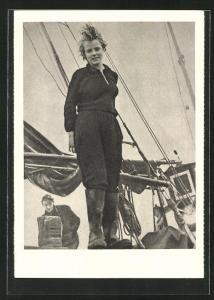 AK Eva-Maria Bruhn, Mitglied der Delegation junger Friedenskämpfer..., DDR-Propaganda